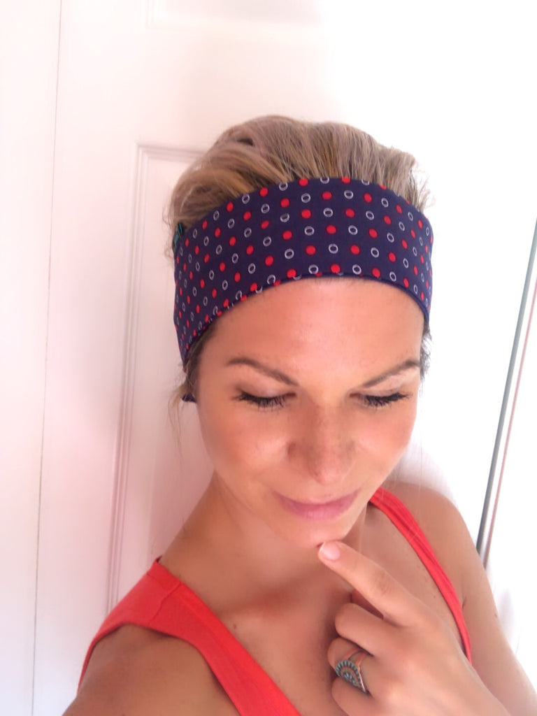 Red Tiny Dots ~ Headband - Tossy by EM