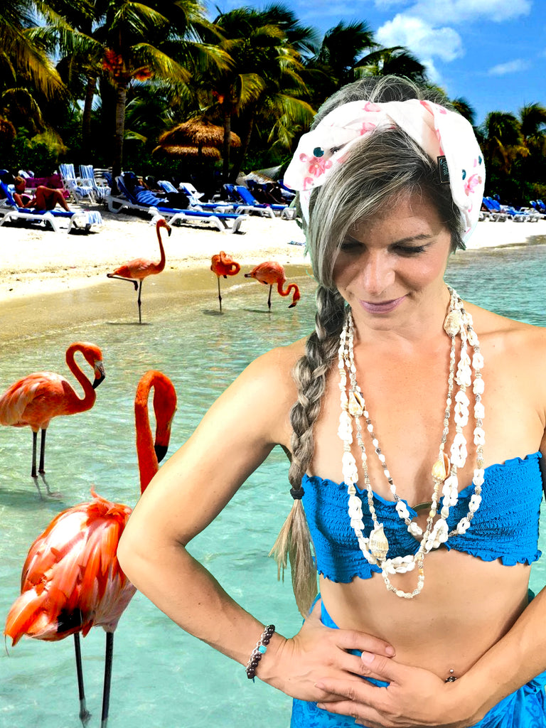 Flamingo Beach ~ Headband