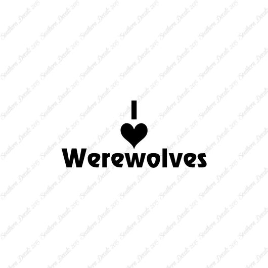 I Love Werewolves Heart