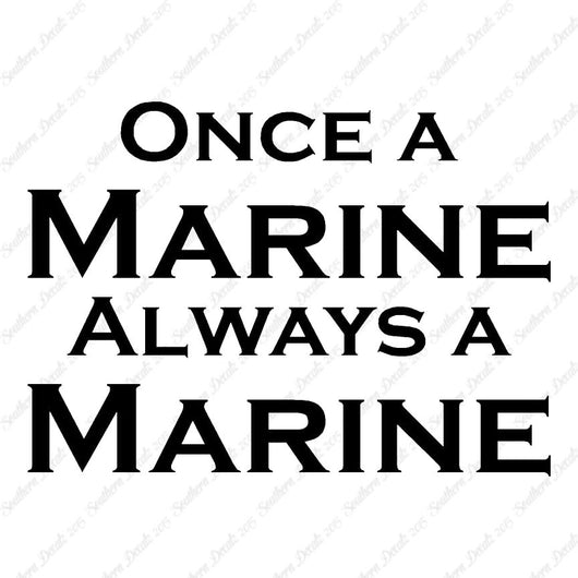 Once A Marine Always