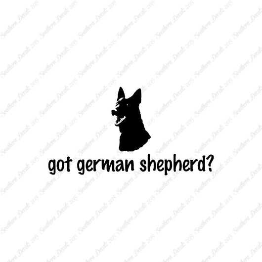 Got German Shepherd ? Head Dog Breed