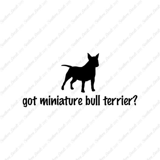 Got Miniature Bull Terrier ? Dog Breed