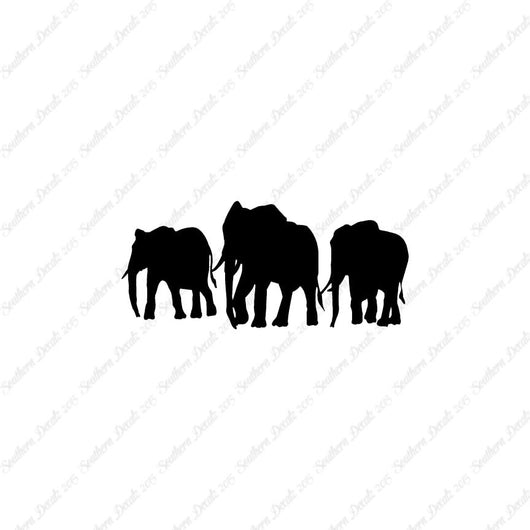 Group Of Elephant Herd