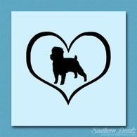 Affenpinscher Dog Heart Love