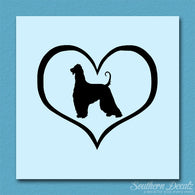 Afghan Hound Dog Heart Love