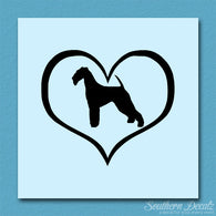 Airdale Terrier Dog Heart Love