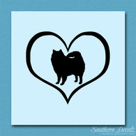 American Eskimo Dog Heart Love