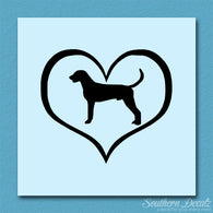 American Fox Hound Dog Heart Love
