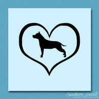 American Staffordshire Terrier Dog Heart