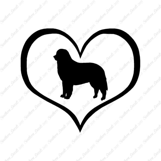 Bernese Mountain Dog Heart Love