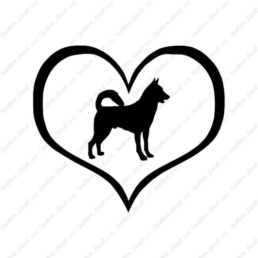 Canaan Dog Heart Love