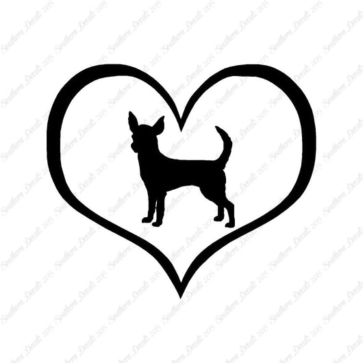Chihuahua Dog Heart Love