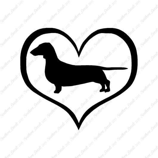 Dachshund Dog Heart Love