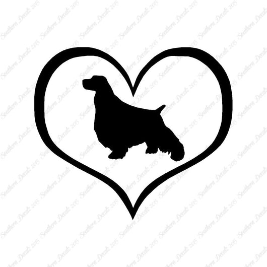English Springer Spaniel Dog Heart Love