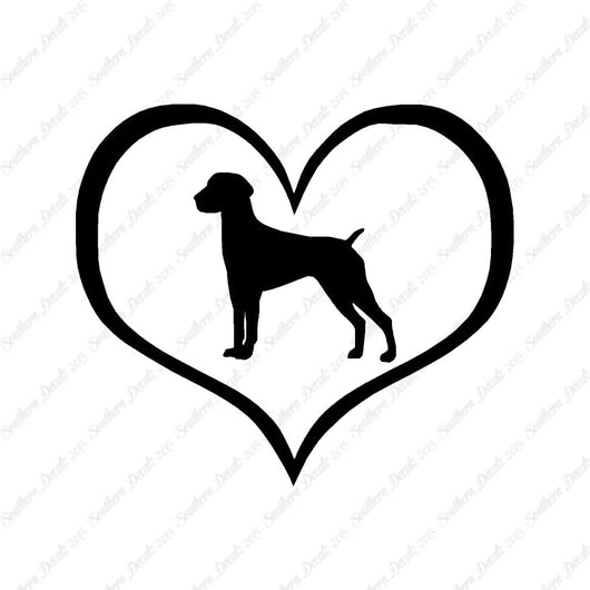 German Shorthaired Pointer Dog Heart Lov