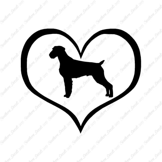 German Wirehaired Pointer Dog Heart Love