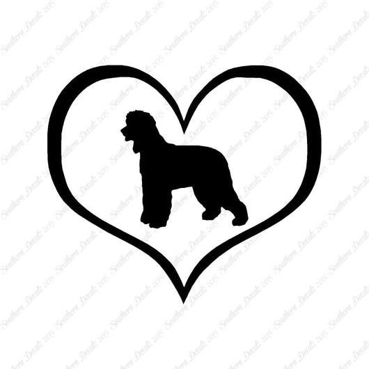 Irish Water Spaniel Dog Heart Love