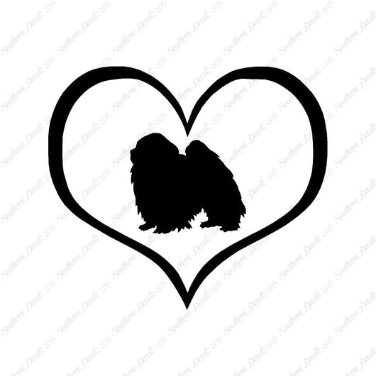Japanese Chin Dog Heart Love