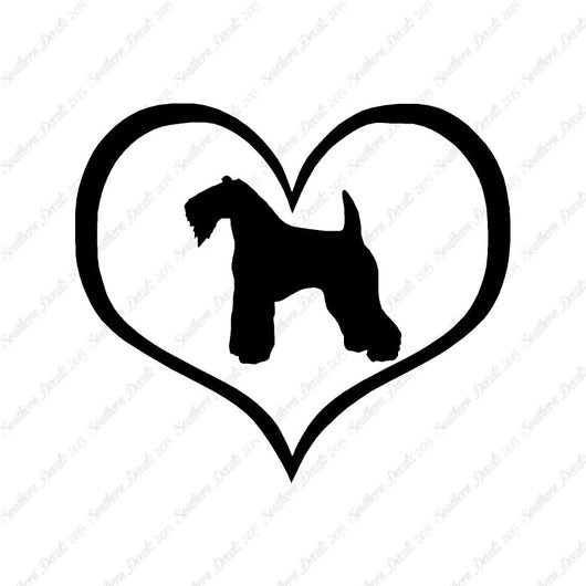 Kerry Blue Terrier Dog Heart Love