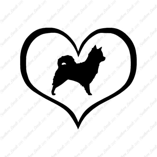 Long Haired Chihuahua Dog Heart Love