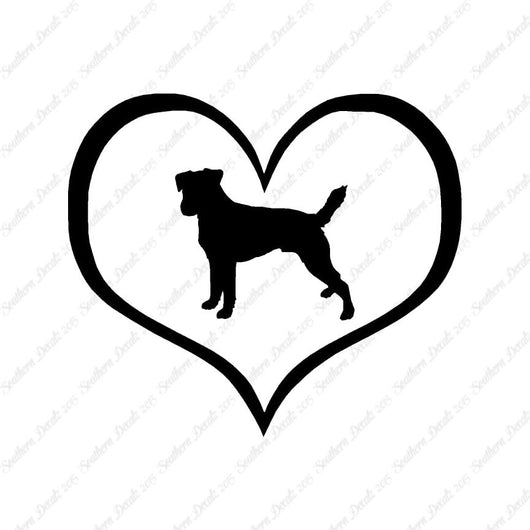 Parson Russell Terrier Dog Heart Love