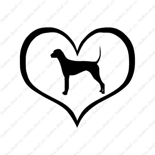 Plott Hound Dog Heart Love