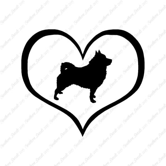 Schipperke Dog Heart Love