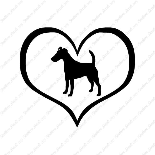 Smooth Fox Terrier Dog Heart Love