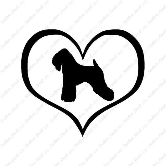 Wheaten Terrier Dog Heart Love