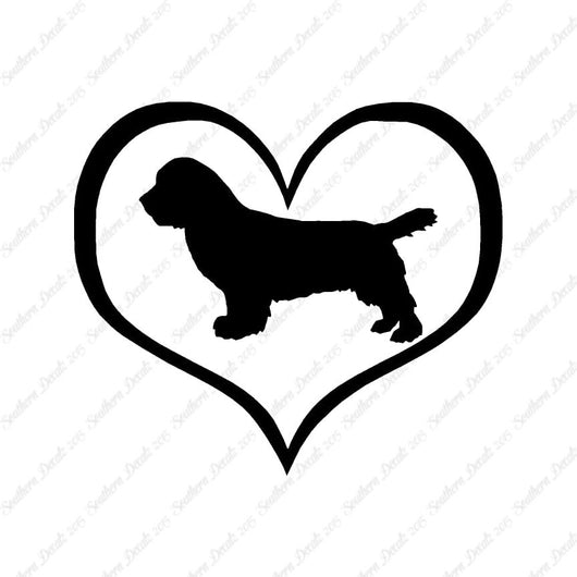 Sussex Spaniel Dog Heart Love