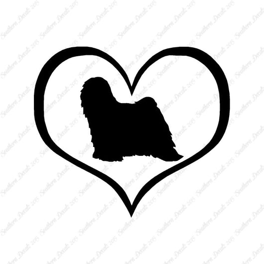 Tibetan Terrier Dog Heart Love