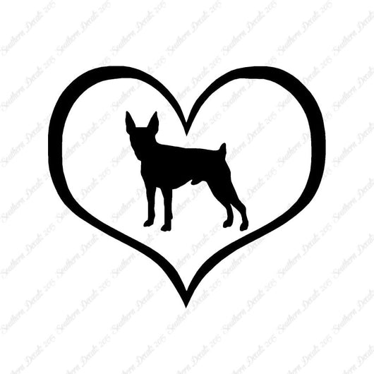 Toy Fox Terrier Dog Heart Love