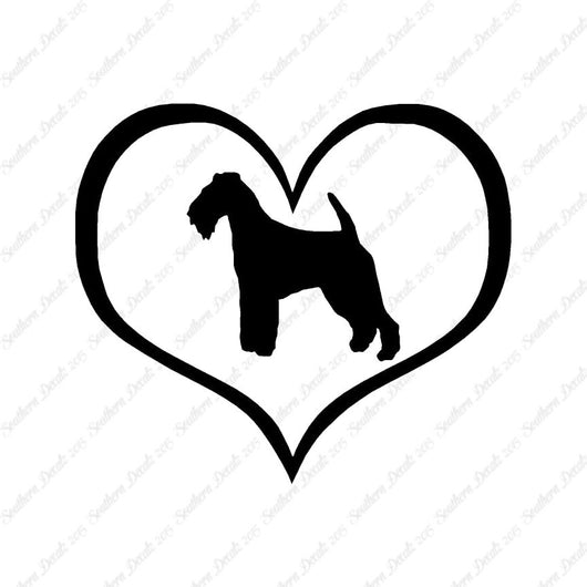 Welsh Terrier Dog Heart Love