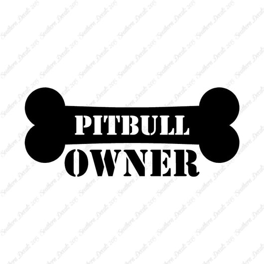 Pit Bull Dog Owner Bone