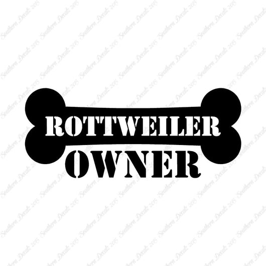Rottweiler Dog Owner Bone