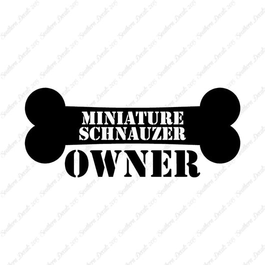 Miniature Schnauzer Dog Owner Bone