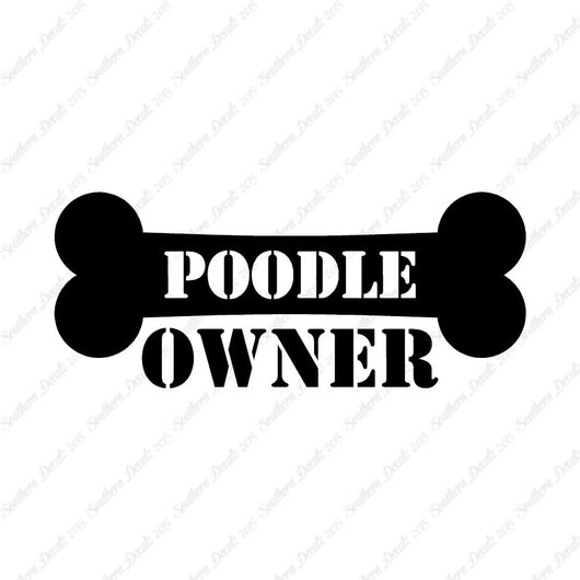 Poodle Dog Owner Bone