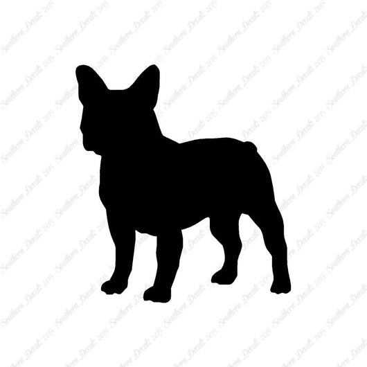 French Bulldog Dog Breed Silhouette