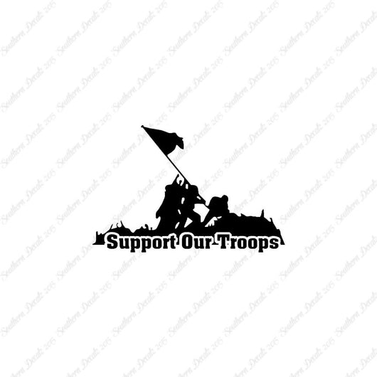 Support Our Troops Iwo Jima Flag