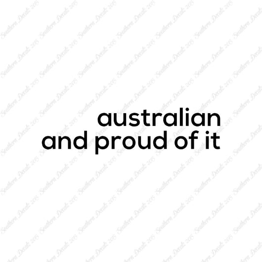 Australian Proud Of It