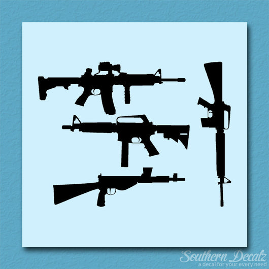 Set Of 4 Assault Rifles