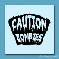 Caution Zombies Tombstone