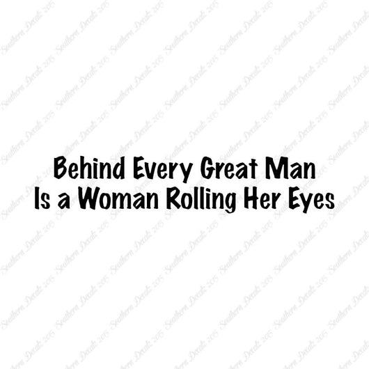 Behind Man Is Woman Rolling Her Eyes