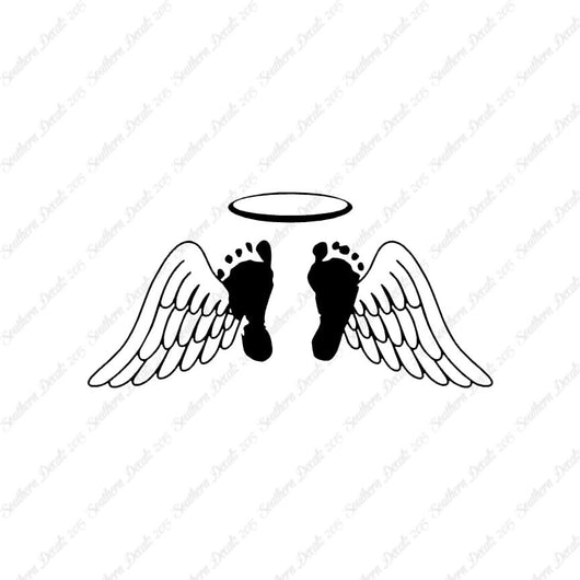 Baby Feet Memorial Angel Wings