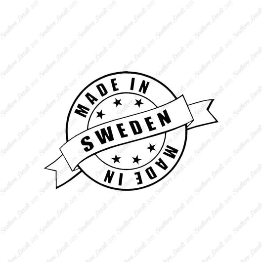 Made In Sweden Stamp Logo
