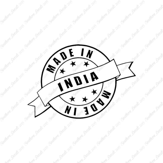 Made In India Stamp Logo