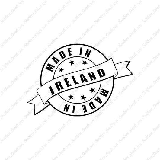 Made In Ireland Stamp Logo