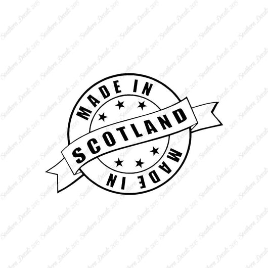 Made In Scotland Stamp Logo