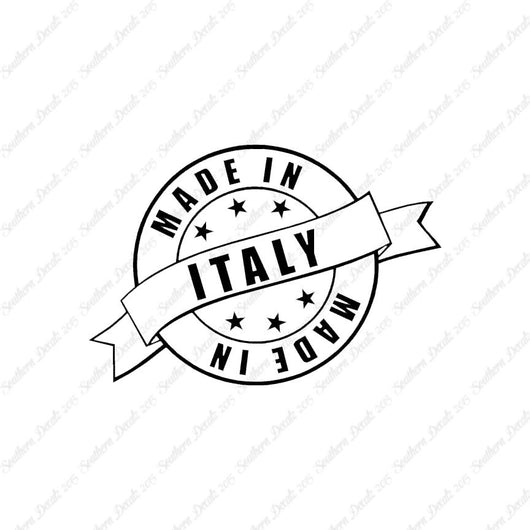 Made In Italy Stamp Logo