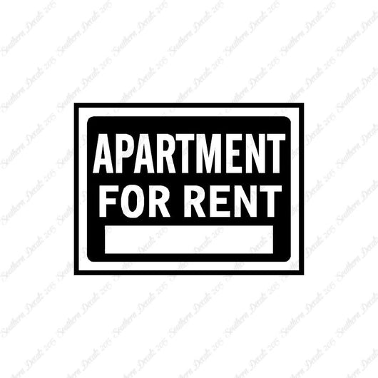 Apartment For Rent Business Sign